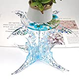 Moon Shaped Leg Small Round End Table Silicone Resin Epoxy Making Mold Shelf Vase Plant Stand Flower Pot Potted Rack Casting Mould Craft Molds Handmade Gift DIY Tool Home Party Decor