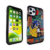 iPhone 11 Pro Case Beauty & The Beast, IMAGITOUCH 2-Piece Style Armor Case with Flexible Shock Absorption Case & Magic Rose Design Cover Hybrid for iPhone 11 Pro (5.8 inch)