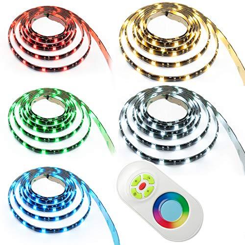 Preisvergleich Produktbild ENERGMiX 15 m LED RGB Strip Leiste Band SMD 5050 mit 450 LEDs ink Netzteil+Touch Controller + Fernbedienung Komplett Set-IP65 silikonüberzogen Wasserdicht-Mehrfarbig