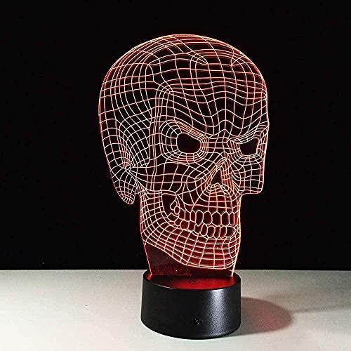 Cine y Televisión Skull Girls Base ilusión luz nocturna regalos decoración del hogar-7 colores cambiantes