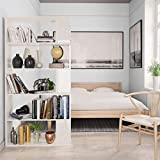 Festnight Bücherregal/Raumteiler Hochglanz-Weiß 80×24×192 cm Spanplatte