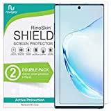(2-Pack) RinoGear Screen Protector for Samsung Galaxy Note 10 (Fingerprint ID Compatible) Samsung Galaxy Note 10 Screen Protector Accessory Clear Film