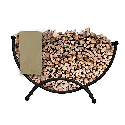Buy Island Retreat NU2110 Deluxe Steel Firewood Storage with Polyester Cover, 59-in L x 16-in W x 35...