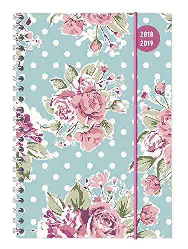 Collegetimer Roses 2018/2019 - Schülerkalender A5 - Weekly - Ringbindung - 224 Seiten