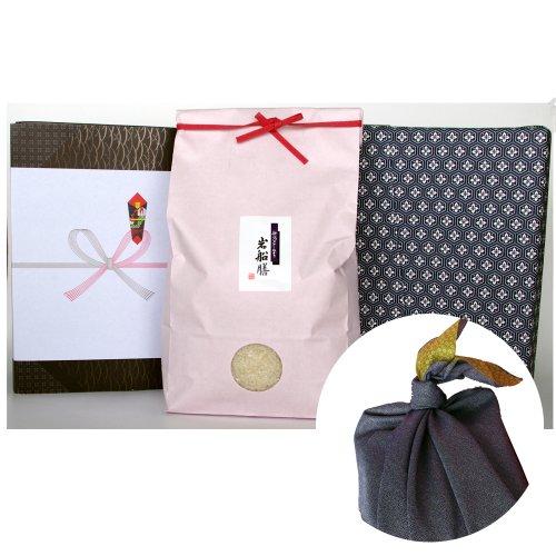 新潟県産コシヒカリ (米袋:ピンク・包装紙:青・風呂敷:青)5キロ