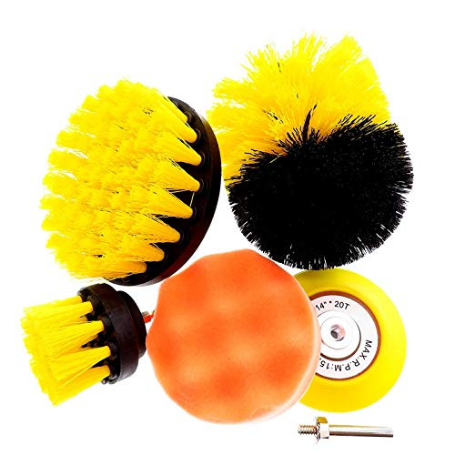 Abrasive Tools 6Pcs Grinding Polishing Tool Clean Power Scrubber Brush Set Bathroom Drill Cleaning Attachment Kit Scrub Electric Tile Grout - (1 Set Brush)