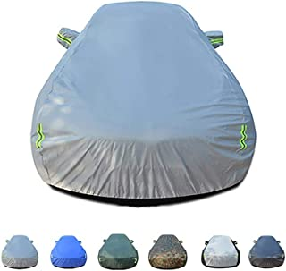 MLMHLMR Car Cover, Rainproof, Windproof, Dustproof, UV Resistant, Non-Flammable, Oxford Cloth Cover, Suitable for Use Inside and Outside Renault Amulet Car Cover (Color : A)