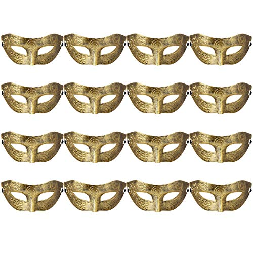 Masquerades Venetian Masks Costumes Party Accessory Gold