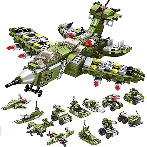 WIDELAND Building Toys Destroyer Fighter Playset 576PCS Construction Toys...