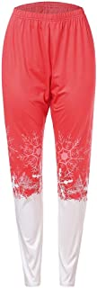 Women Plus Size Christmas Print Lounge Leggings Sport Athletic Pants Warm Leggings Winter Workout Pants Sexy Self-Cultivation (Color : Red, Size : 5XL)