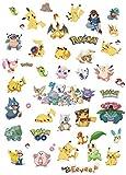 Kibi – 6 Pegatinas de Pokémon 3D Pegatinas Pokemon Pikachu Wall Sticker Pokemon Go Pegatinas De Pared Stickers Pokemon Pared Adhesivo Pokemon