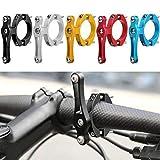 Zixin Portabotella Bicicletas Adaptador de aleación de Aluminio del Manillar Taza de Agua en Rack Soporte de la Abrazadera del Clip Ciclismo Accesorios (Color : B )