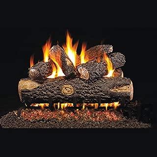 RealFyre Woodland Oak Gas Logs 18-in - Logs and G45 Burner Kit, Natural Gas