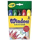 Crayola Washable Window Crayons, Assorted 5 count