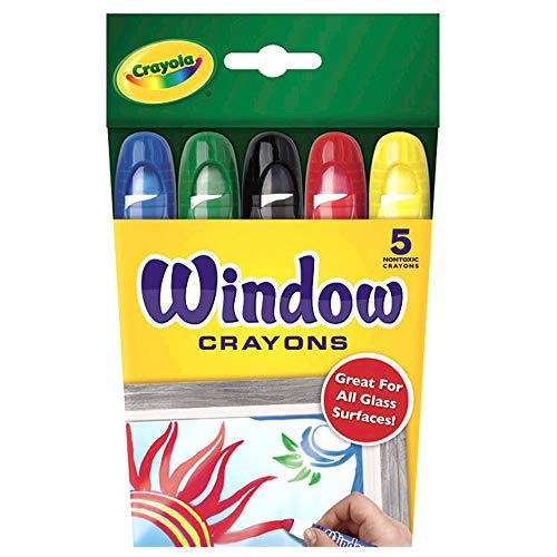 Crayola Washable Window Crayons, Assorted 5 count