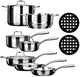Duxtop SSC-14PC 14 Piece Whole-Clad Tri-Ply Induction Cookware...