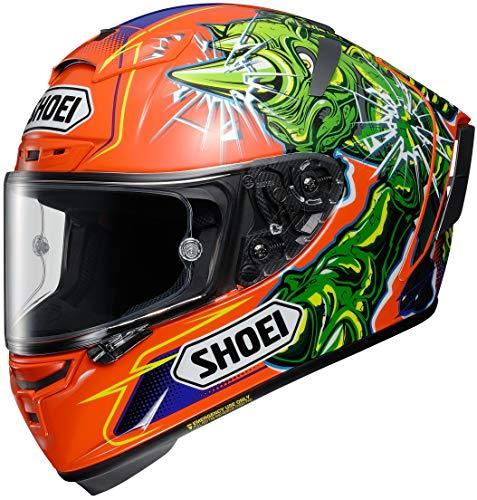 Shoei X-Spirit III Power Rush TC-8 orange Integralhelm Motorradhelm, XL