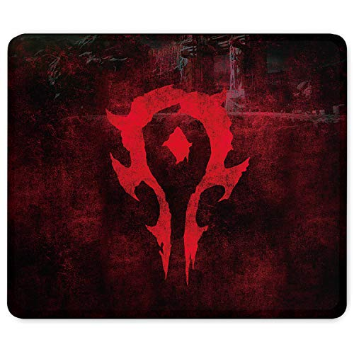 World of WarcraftMouse Pad Non Slip Rubber Stitched Edges Large Gaming Keyboard Mat Mousepad 9.8 × 11.8 × 0.12 Inches (25x30cm)