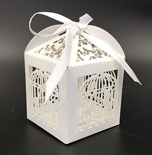 Sorive 50pcs Birdcage Love Birds Laser Cutting Candy Box Chocolate Box Wedding Favors And Gifts Wedding Gifts For Guests Party Supplies