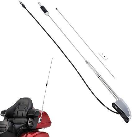 PSLER® Kit de Antena de Motocicleta para Goldwing 1800 GL1800 Goldwing 1500 GL1500 2001-2014 (Type-A)