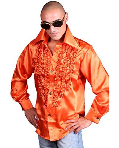 Marco Porta Faschingskostüme Schlagerhemd Orange, XL