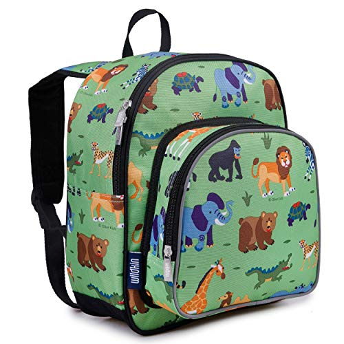 Wildkin Backpack for Toddlers, Boys and Girls Ideal for Daycare, Preschool and Kindergarten, Perfect Size for School and Travel, Mom's Choice Award Winner, One, Wild Animals
