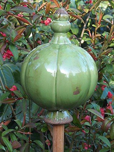 Edle große Landhausstil Rosenkugel,Beetkugel,Gartenkugel,Dekokugel,Ø 16 cm (Grün)
