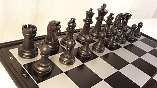 Chessebook - Ajedrez Damas Backgammon Tablero de 32 x 32 cm, magnético
