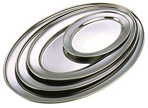 Genware nev-1065 Plate Ovale, en acier inoxydable, 22,9 cm