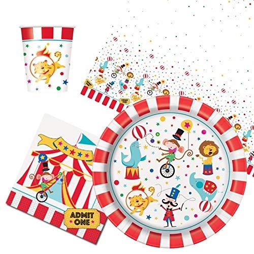 Party Bags 2 Go Circo Carnaval Vajilla Paquete Fiestas