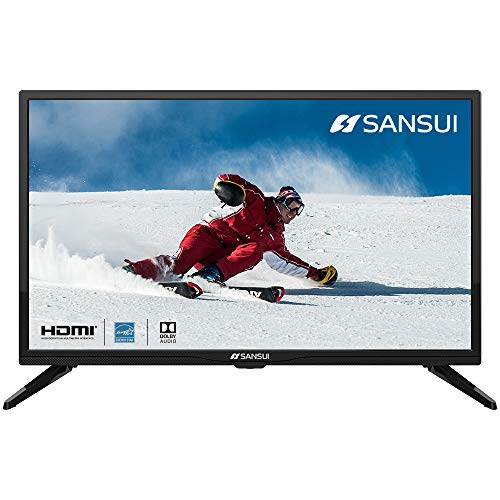 SANSUI 24-Inch TV 720P Basic LED HD TV-S24 Flat Screen Television Built-in HDMI,USB,VGA,Earphone,Optical Ports - Refresh Rate 60Hz (2020 Model)