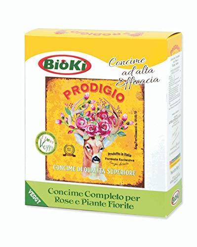 Bioki Prodigio Rose, Concime Organo Minerale per Rose e Piante fiorite, 900 G