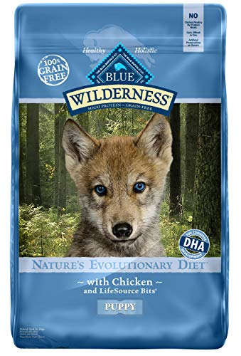 Blue Buffalo Wilderness High Protein Grain Free, Natural Puppy Dry Dog Food, Chicken 11-lb