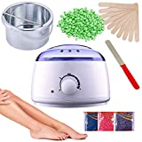 Celeoris Wax Warmer Hot Wax Heater with Hair Removal Wax Beans(100g) and Wooden Chips for Hard, Strip and Paraffin Waxing Kit for Women - Color May Vary