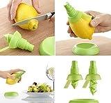 Spruzza succo per agrumi con vaporizzatore In plastica lavabile in lavastoviglie 3 pz quali: 1 premi agrume grande-1 premi agrume piccolo-1 base
