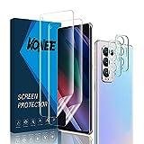 KONEE Bildschirmschutzfolie Kompatibel mit Oppo Find X3 Neo 【2 + 2 Stück】 + Kamera Panzerglas, [Anti-Kratzen, Fingerabdruck Kompatibel] Flexibler TPU Schutzfolie für Oppo Find X3 Neo