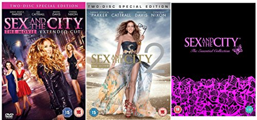 Sex and the City Movie 1 (Extended Cut) + Sex and the City Movie 2 (Two-Disc Special Edition) + Sex and the City Complete Series 1, 2, 3, 4, 5 and 6 DVD Collection (All 94 episodes) + Extras