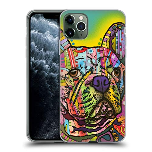 Head Case Designs Officially Licensed Dean Russo French Bulldog Dogs Soft Gel Case Compatible with Apple iPhone 11 Pro Max