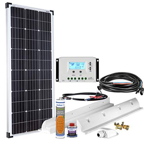 Offgridtec Solaranlage für Wohnwagen 100 Watt / 12 V - Komplett-Set für Wohnmobil, 100W 002710