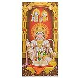 Bild Hanuman mit Rama und Sita 100 x 50 cm Kunstdruck