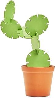 SUCK UK Cactus Coaster Construction Set, Natural Bamboo Fibr