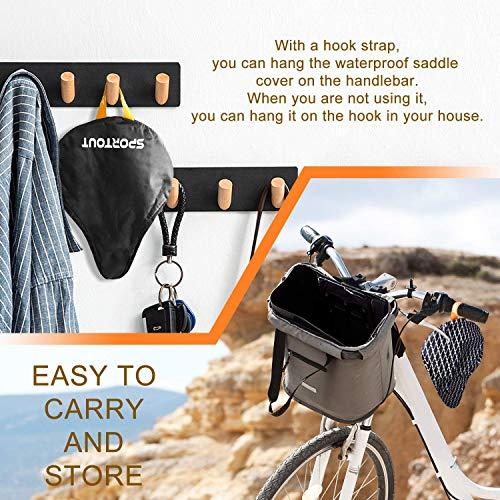 Wasserdichte Fahrradsattelabdeckung,elastische Wasserfeste Fahrradsattel Schutzhülle, Passend für den Meisten Fahrradsattel wie Rennrad, Mountainbike, Damenrad, E-Bike u.s.w.(2-PACK -Upgrade) - 3