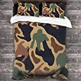 Camouflage Sex and The City 3D Quilt Reversible Bedding Sets Comforter Bedspread Set Queen Size 3 Piece Duvet Cover Set with 2 Pillow Cases for Men Women Kids