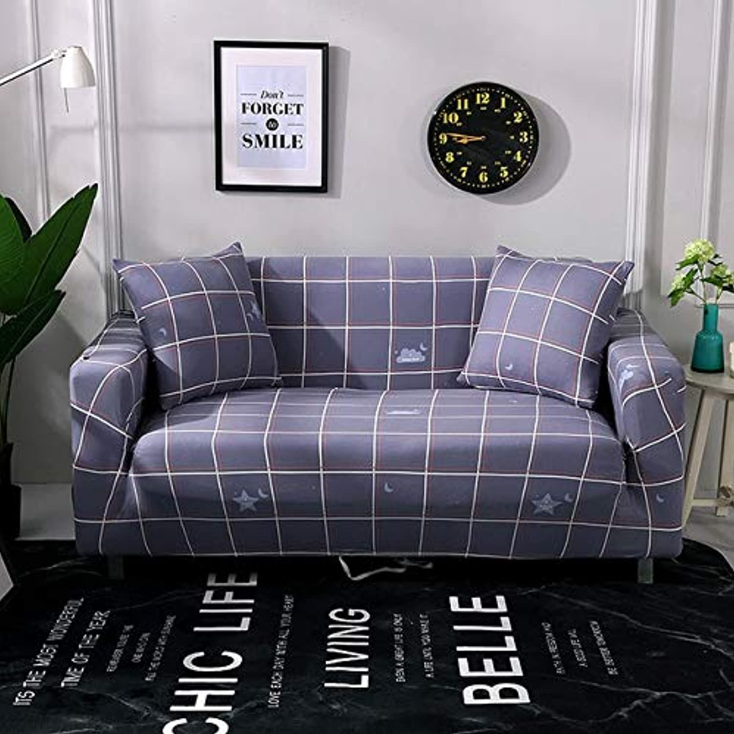 European Style Sofa Cover Sofa-slipcovers Tight Elastic Sofa Towel Wrap All-Inclusive Slip-Resistant Couch Cover 1 2 3 4-seater   24, Two-seat