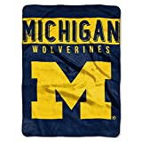 The Northwest Company Michigan Wolverines 'Basic' Raschel Throw Blanket, 60' x 80' , Blue