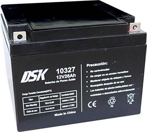 DSK 10327 Bateria Plomo Ácido, Litio, Negro