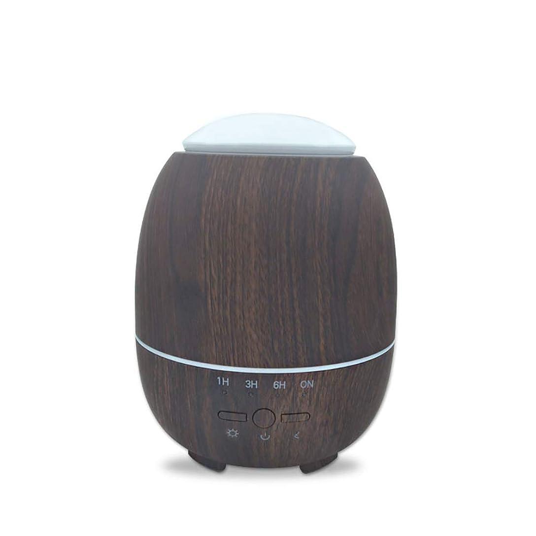 責任打撃それによってアロマエッセンシャルオイルクールミスト加湿器、ウッドグレインアロマディフューザー、スーパーハイアロマ出力、調節可能ミストモード、7色LEDライト,deepgrain