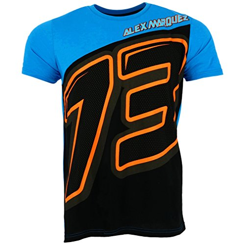 Pritelli 1832001/XL Alex Marquez Moto GP Panel 73 Logo T-Shirt officiel 2018, multicolore, Taille XL