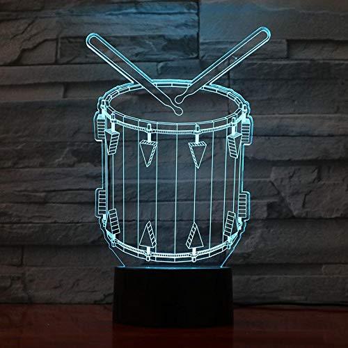 Kreative Bandmusik Musikinstrument USB 3D LED Nachtlicht Jungen Kind Kinder Baby Kinder Geschenk Nachttischlampe drump