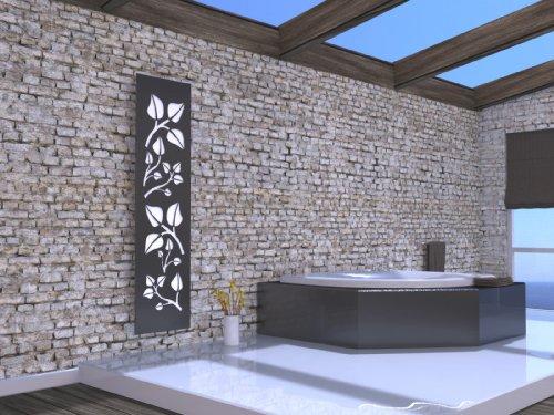 Badheizkörper Design Leaves 3, HxB: 180 x 47 cm, 1118 Watt, weiß/moonstone-grau (metallic) (Marke: Szagato) Made in Germany/Bad und Wohnraum-Heizkörper (Mittelanschluss)